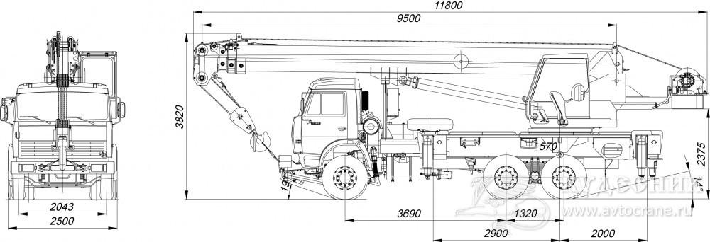 Схема автокрана кс 55713